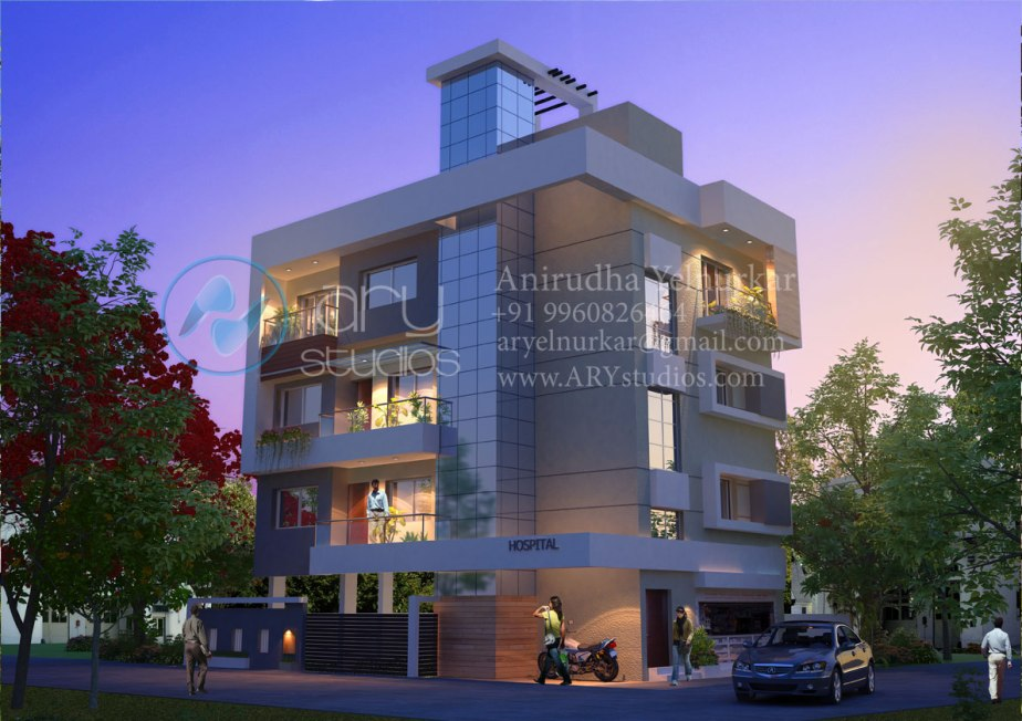 3d+apartment+rendering+architectural+evening+view+realistic